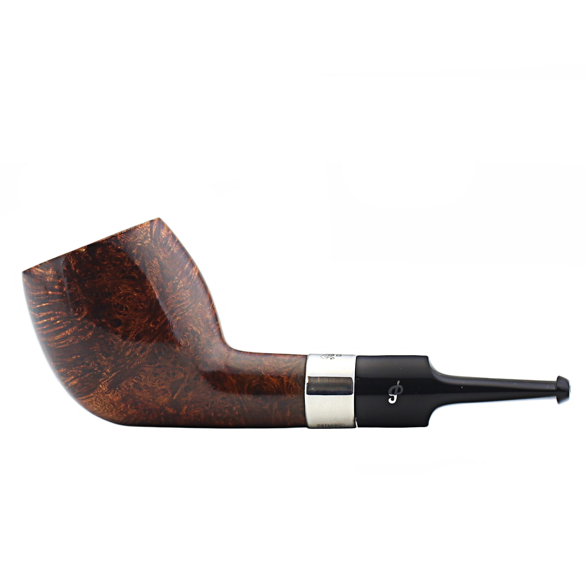 straight stem with 2017 collection carved billiard bowl FALCON standard pipe UK